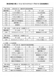 試合結果(8/29-9/21)