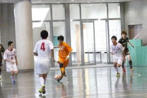 vs FOOTBOZE FUTSAL U-18戦での山田選手