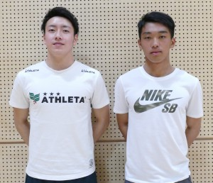 GK 小川明乗選手(左)FP 小林拓夢選手(右)