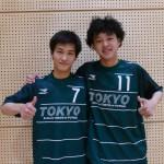 中村充選手(左)飯田力太選手(右)